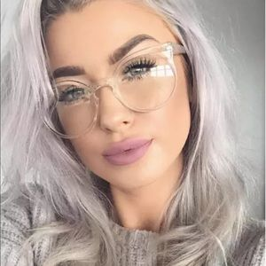 Accessories - Clear round cat eye style sunglasses
